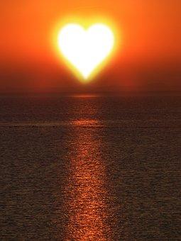Background, Texture, Sun, Heart, Love, Heart Shape