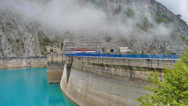 Hydroelectric Power Station, Landscape, Water, River