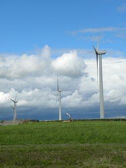 Windmill, Field, Farm, Landscape, Sky, Nature, Rural