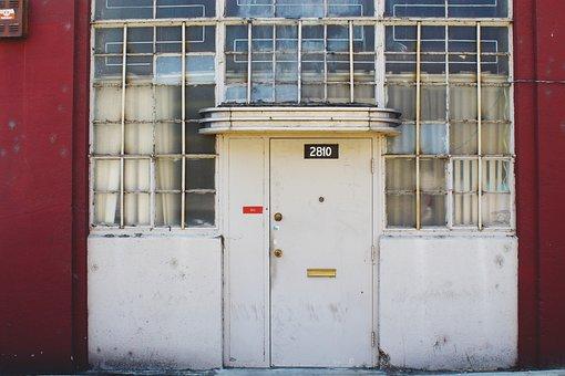 Door, Building, Windows, Architecture, Vintage, Facade