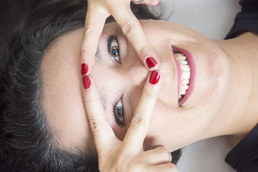 A Smile, Girl, Closeup, Portrait Of A Woman, Heat