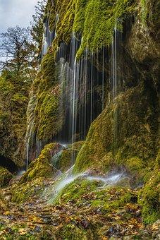 Veil Cases, Waterfall, Autumn, Alpine, Beautiful
