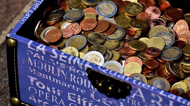 Coins, Chest, Euro, Cent, Metal Money, Currency, Specie