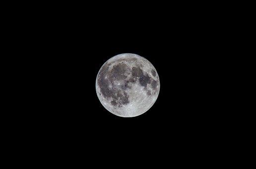 Moon, Night, Full Moon, Sky, Night Photograph, Darkness