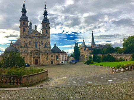 Fulda, Church, Dom, Christian, Religion, Holy, Gold