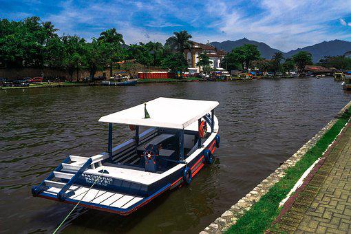 Paraty, Canal, Barco, Boat, Landscape, Floating, Harbor