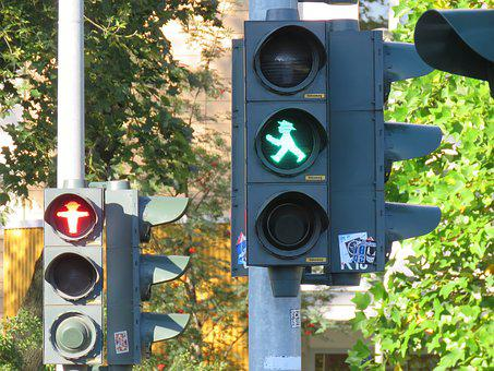 Traffic Lights, Little Green Man, Green, Red, Go, Stop