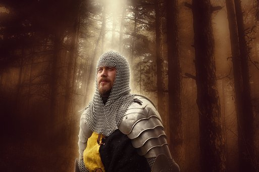 Knight, Soldier, Warrior, Medieval, War, Helmet, Metal