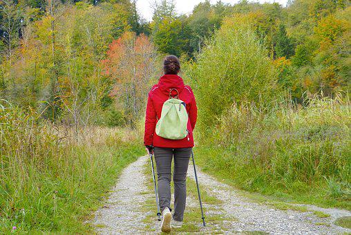 Woman, Girl, Walken, Go For A Walk, Backpack, Out