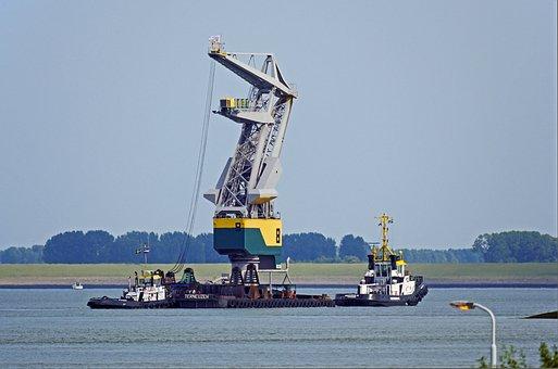 Special Transport, Harbour Crane, Water Way, Pontoon