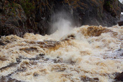 Wave, Water, Current, River, Nature, Rock