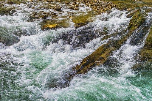 Ammer, River, Waterfall, Rock, Stones, Rustling
