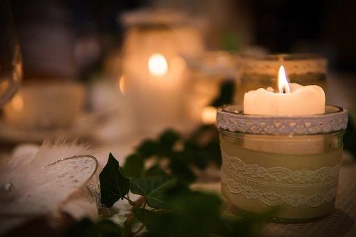 Candlelight, Light, Wedding, Romantic, Celebration
