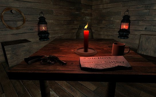 Hut, Wood, Weapon, Newspaper, Serie Killer, Candle
