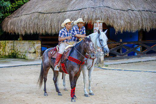 Cowboy, Mexico, Rider, Sombrero, Attraction