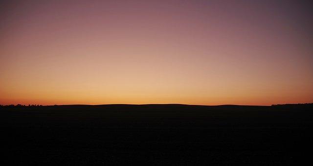 Dawn, Sunrise, The Horizon, Dark, Twilight