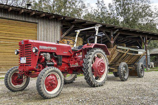 Tractors, Tractor, Trailers, Scale, Harvest Time