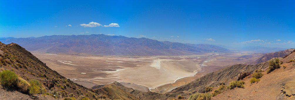 Dante's View, Death Valley, Usa, Desert, National Park