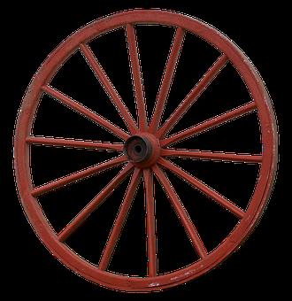 Wagon Wheel, Wheel, Wooden Wheel, Spokes, Wood, Old