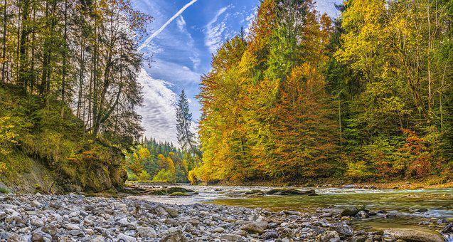 Ammer, Autumn, River, Beautiful, Hiking, Alpine