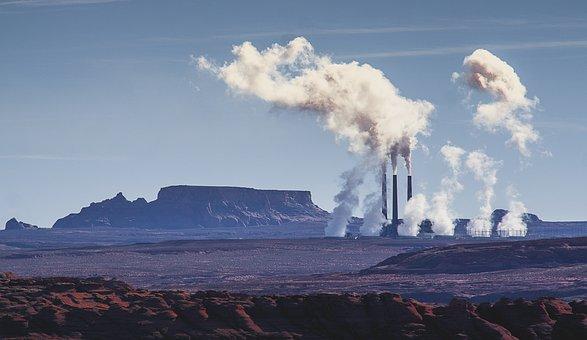 Arizona, Power Plant, Desert, Smoke, Pollution