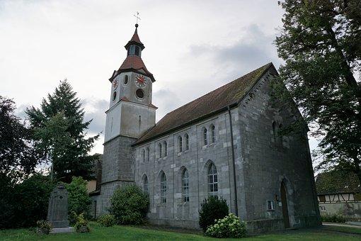 Church, Protestant, Bavaria, Religion, Baptism, Stature