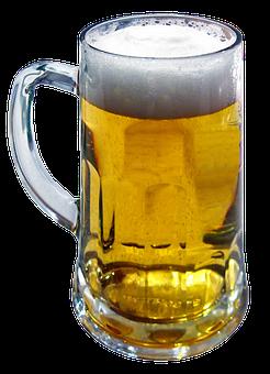 Beer Mug, Beer, Head, Glass Mug, Seidla, Half