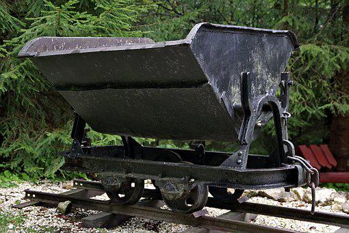 Trolley, Cradle, Coal, Clay, Metal, Rails, To Carry