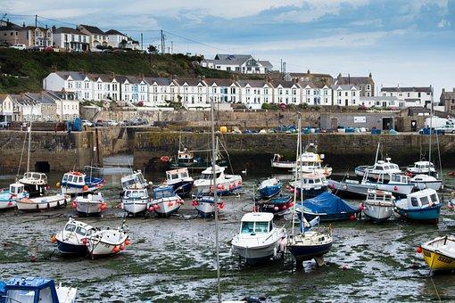 Porthleven, Cornwall, England, Coast, Sea, Ocean