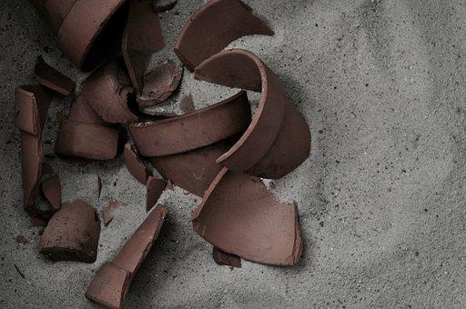 Pottery, Broken Pottery, Broken, Old, Earthenware