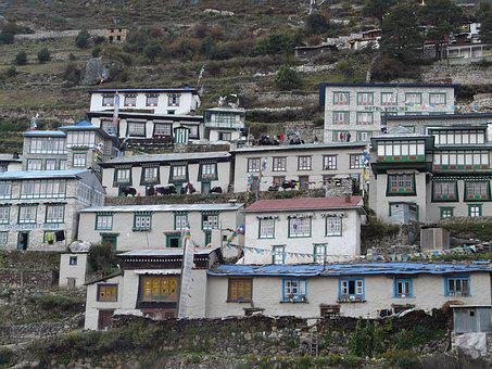 Namche Bazaar, Sherpa, Everest, Khumbu, Houses, A Hotel
