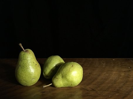 Pears, Green, Table, Fresh, Fruit, Healthy, Natural