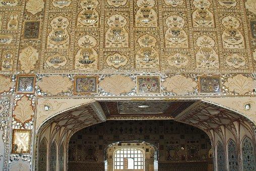 India, Amber, Palace, Inlays, Money, Decoration, Mosaic