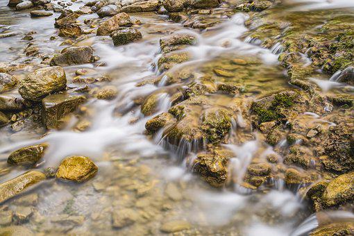 Waterfall, Water, Nature, Landscape, River, Bach