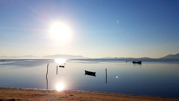 Ceu, Beach, Horizon, Mar, Blue Sky, Sand, Nature