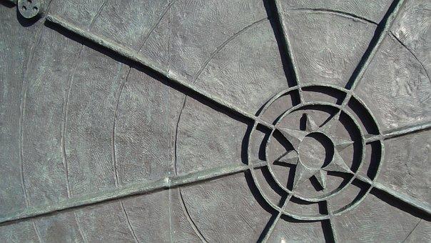 Design, Sun, Rays, Symbol, Stone Art
