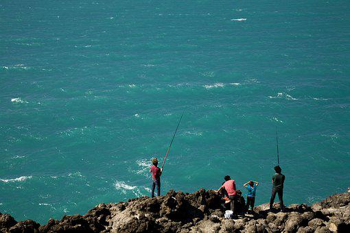 Fisherman, Marine, Beach, Water, Turkey, Coastline