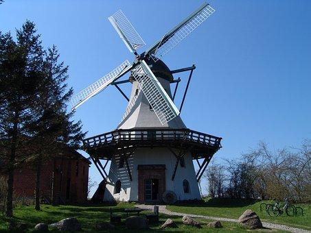 Mill, Wind, Windmill, Wing, Turn