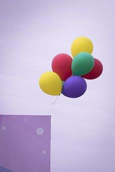 Balloon, Purple, Sky, Yellow, Colorful, Vivid