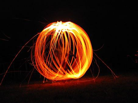 Fire, Brand, Sky, Flame, Glow, Wood Fire