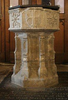 Font, Baptism, St Michael's Church, Sittingbourne