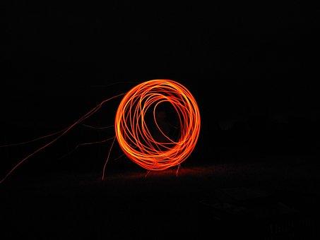 Fire, Brand, Sky, Flame, Glow, Wood Fire, Circle