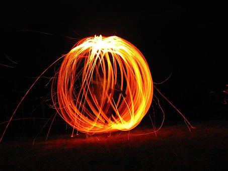 Fire, Brand, Sky, Flame, Glow, Wood Fire