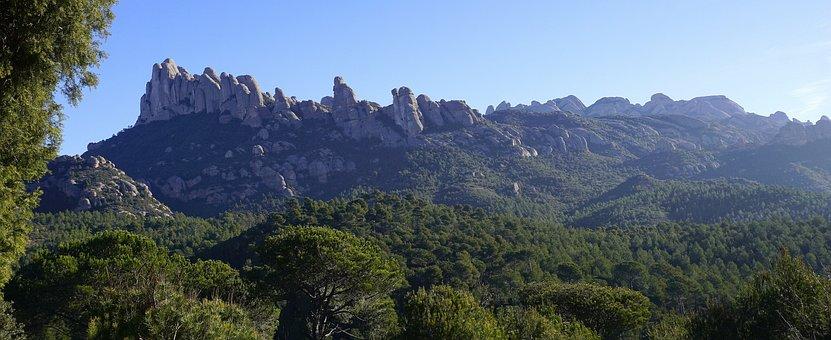 Mountains, Montserrat, Cordillera, Nature, Landscape