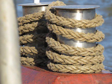 Bollard, Maritime, Harness Lines, Port, Ship, Water