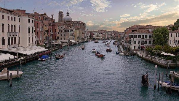 Italy, Venice, Channel, Canale Grande