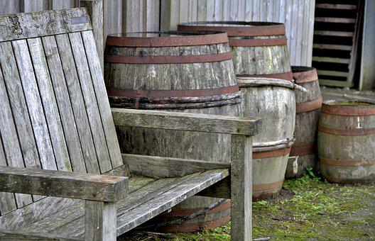 Barrels, Wood, Seat, Keg, Cask, Storage, Container