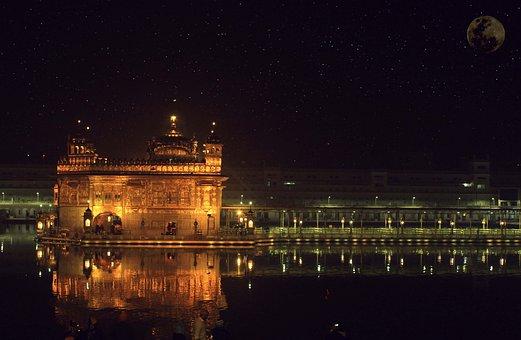 India, Punjab, Holy, Sikhism, Amritsar, Travel, Temple