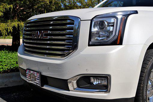 Gmc Yukon, Grill, Headlamp, Glass, License Plate