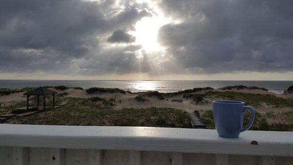 Sunrise, Ocean, Beach, Relax, Morning, Light, Dunes